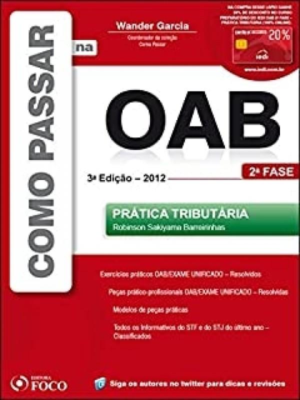 Como Passar na OAB - 2ª Fase - Prática tributária